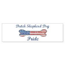 Dutch Shepherd Dog Pride Bumper Car Sticker