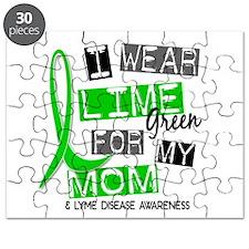 I Wear Lime 37 Lyme Disease Puzzle
