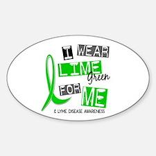 I Wear Lime 37 Lyme Disease Sticker (Oval)