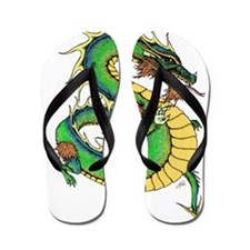 Unique Dragons Flip Flops