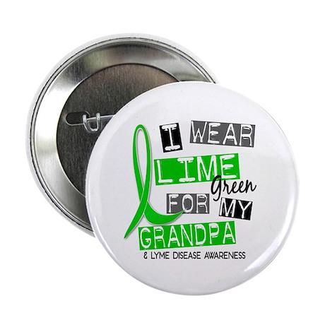 "I Wear Lime 37 Lyme Disease 2.25"" Button"