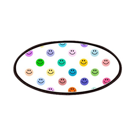 Rainbow Smiley Pattern Patches