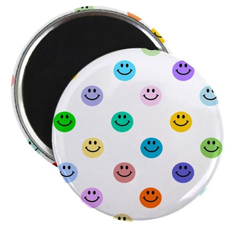 Rainbow Smiley Pattern Magnet