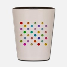 Rainbow Smiley Pattern Shot Glass