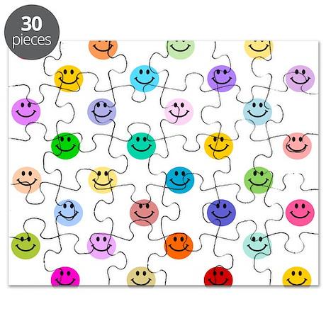 Rainbow Smiley Pattern Puzzle