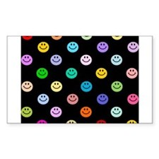 Rainbow Smiley Pattern Decal