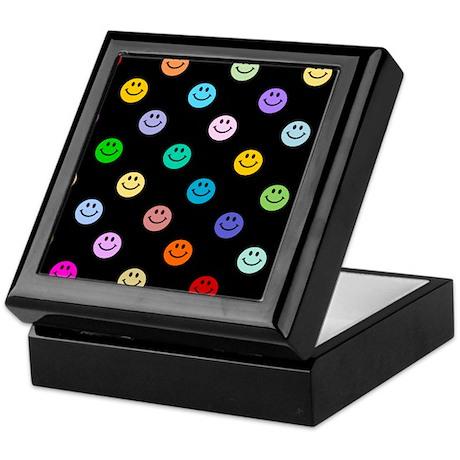 Rainbow Smiley Pattern Keepsake Box
