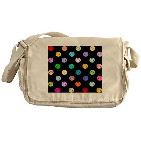 Rainbow Smiley Pattern Messenger Bag
