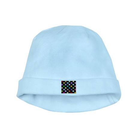 Rainbow Smiley Pattern baby hat
