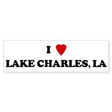 I Love Lake Charles Bumper Car Sticker