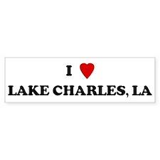 I Love Lake Charles Bumper Car Sticker