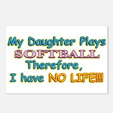 My Daughter Plays Softball Postcards (Package of 8