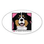 I Love My Bernese Sticker (Oval 50 pk)