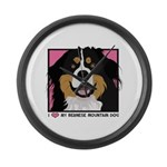 I Love My Bernese Large Wall Clock