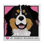 I Love My Bernese Tile Coaster