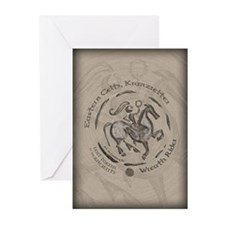 Celtic Wreath Rider Coin Greeting Cards (Pk of 20)