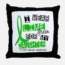 I Wear Lime 37 Lyme Disease Throw Pillow