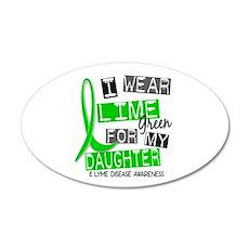 I Wear Lime 37 Lyme Disease 22x14 Oval Wall Peel