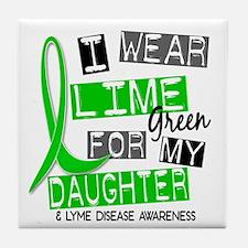 I Wear Lime 37 Lyme Disease Tile Coaster