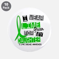 """I Wear Lime 37 Lyme Disease 3.5"""" Button (10 pack)"""