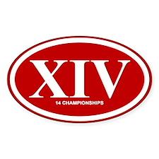 XIV - 14 Championships Decal