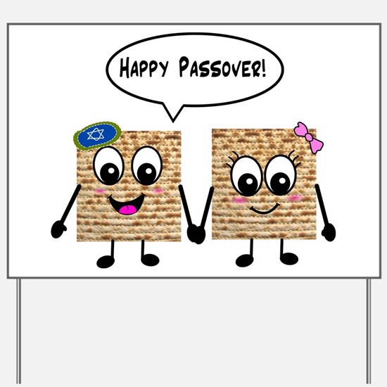 Happy Passover Matzot Yard Sign