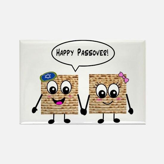 Happy Passover Matzot Rectangle Magnet