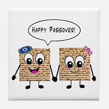 Happy Passover Matzot Tile Coaster