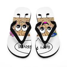Happy Passover Matzot Flip Flops