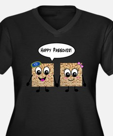 Happy Passover Matzot Women's Plus Size V-Neck Dar