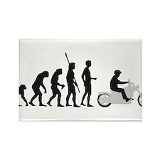 Cute Evolution of man biker Rectangle Magnet (10 pack)