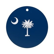 SC Palmetto Flag Ornament (Round)