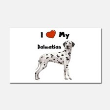 I Love My Dalmatian Car Magnet 20 x 12