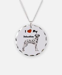 I Love My Dalmatian Necklace