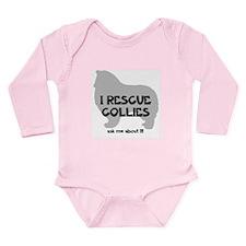 I RESCUE Collies Long Sleeve Infant Bodysuit