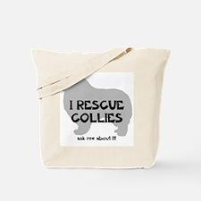 I RESCUE Collies Tote Bag