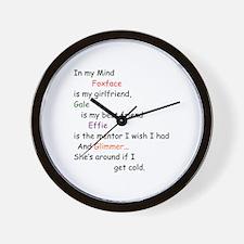 Foxface GF/Gale BF/Glimmer Cd 2 Wall Clock
