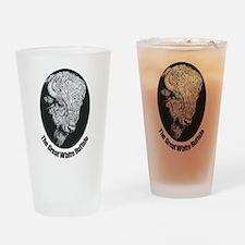 Great White Buffalo Drinking Glass