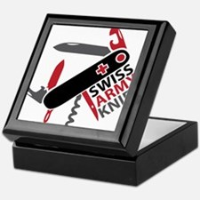 Swiss Knife Design Keepsake Box