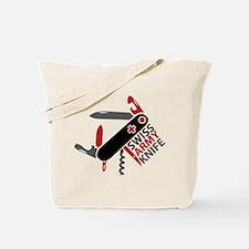 Swiss Knife Design Tote Bag