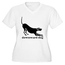 Downward Dog Design Plus Size T-Shirt