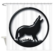 Plastic Wolf Shower Curtain