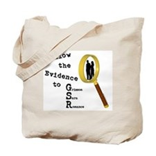 Follow the Evidence Magnify Tote Bag