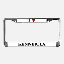 I Love Kenner License Plate Frame
