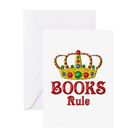 BOOKS Rule Greeting Card