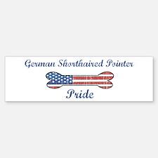 German Shorthaired Pointer Pr Bumper Car Car Sticker