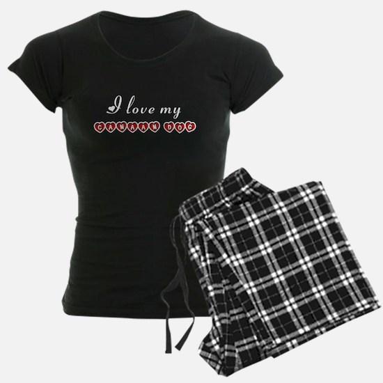 I love my Canaan Dog pajamas