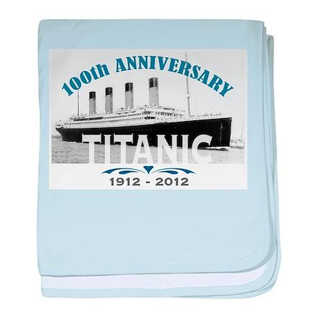 Titanic Sinking Anniversary baby blanket