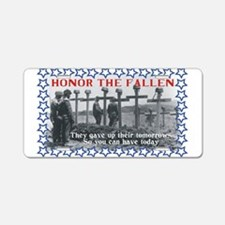 Honor the Fallen Aluminum License Plate