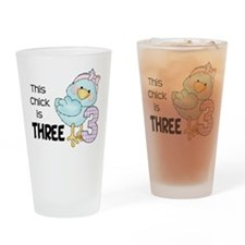 This Chick is Three Drinking Glass